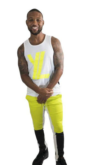 YL Logo Trackpants in Highlighter