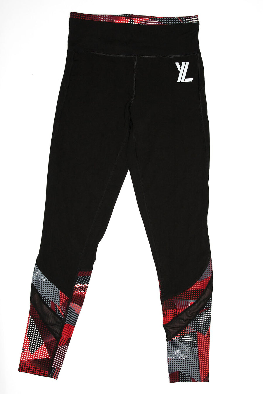 YL Logo Leggings in Red