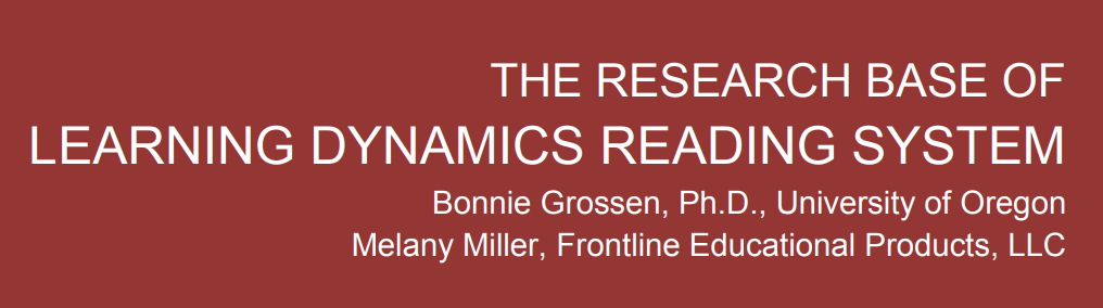 The Research Base of Learning Dynamics Reading System