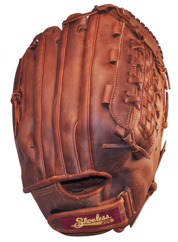 "Shoeless Joe 14"" Mens Softball Glove Slow Pitch Basket Weave w/adjustable strap"