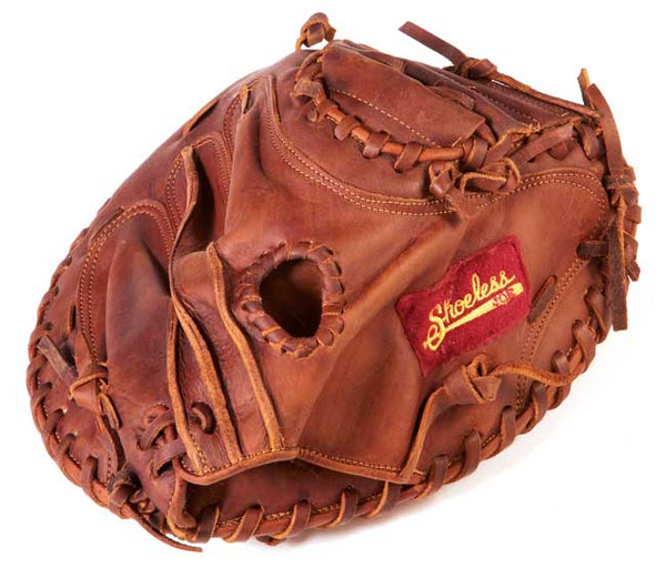 "Shoeless Joe Youth Baseball Catcher's Mitt 30"" - The Bullpen Store"