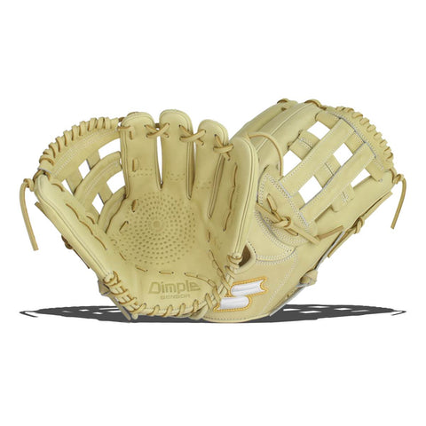 "SSK 12.75"" White Line Double H Web Dimple Baseball Glove"
