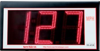 SPORTS RADAR DL431-R Display