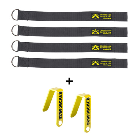 Crossover Symmetry Squat Rack Straps and Chart Hooks - The Bullpen Store