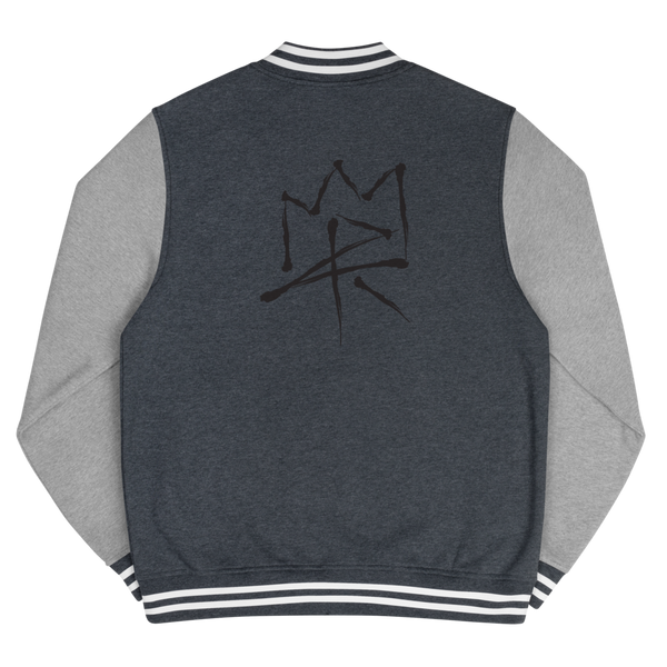 MPR Crown - Blk - Men's Letterman Jacket
