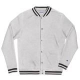 xMPRx Wht - Embroidered Champion Bomber Jacket