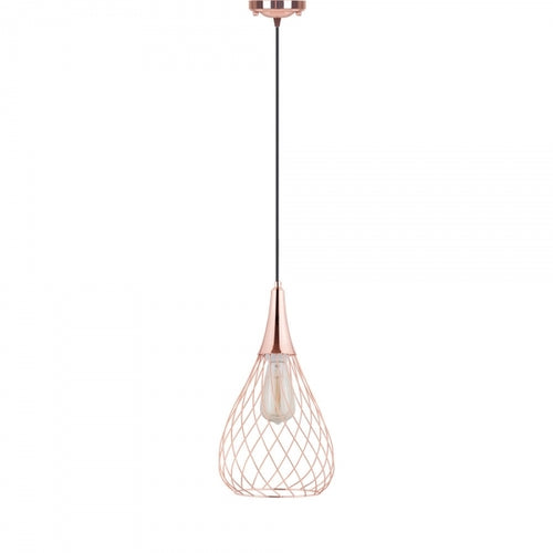 Aron Copper Cage Pendant Light
