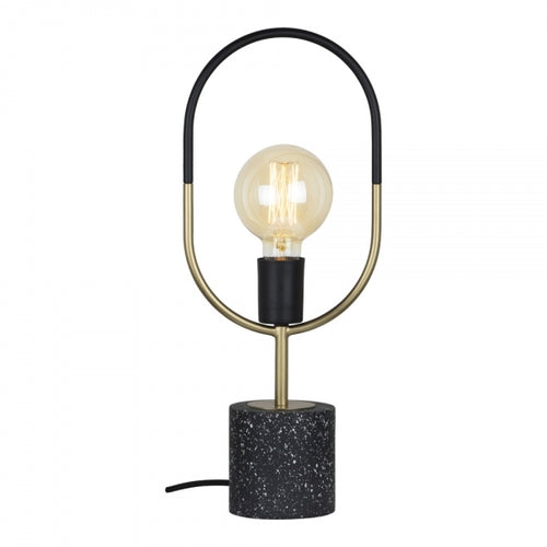 Circa Black Marble Table Lamp