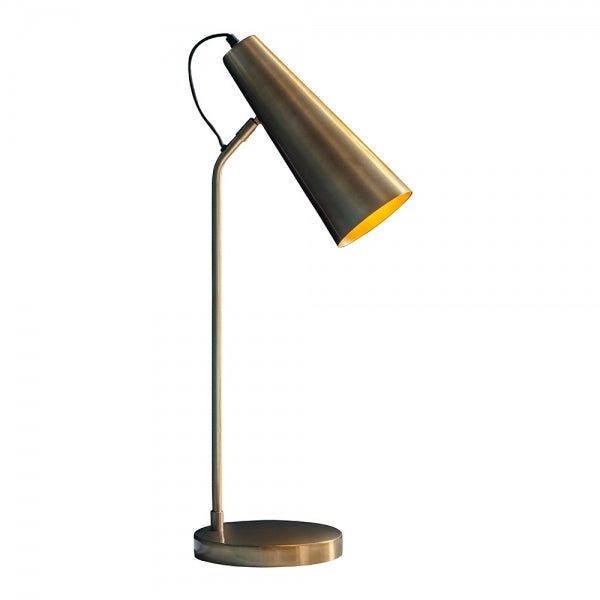 Elixiria Gold Metallic Table Lamp
