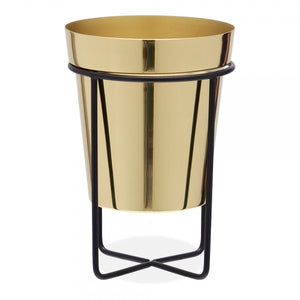 Standing Golden Metal Planter