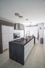 Kitchen in London with Dark Grey Kitchen Worktop