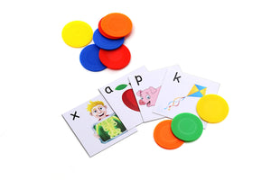 kids letter cards. fun learning. prek learning. prek kit. the at-home academy letter learning kit provides reading and writing lessons for prek kids