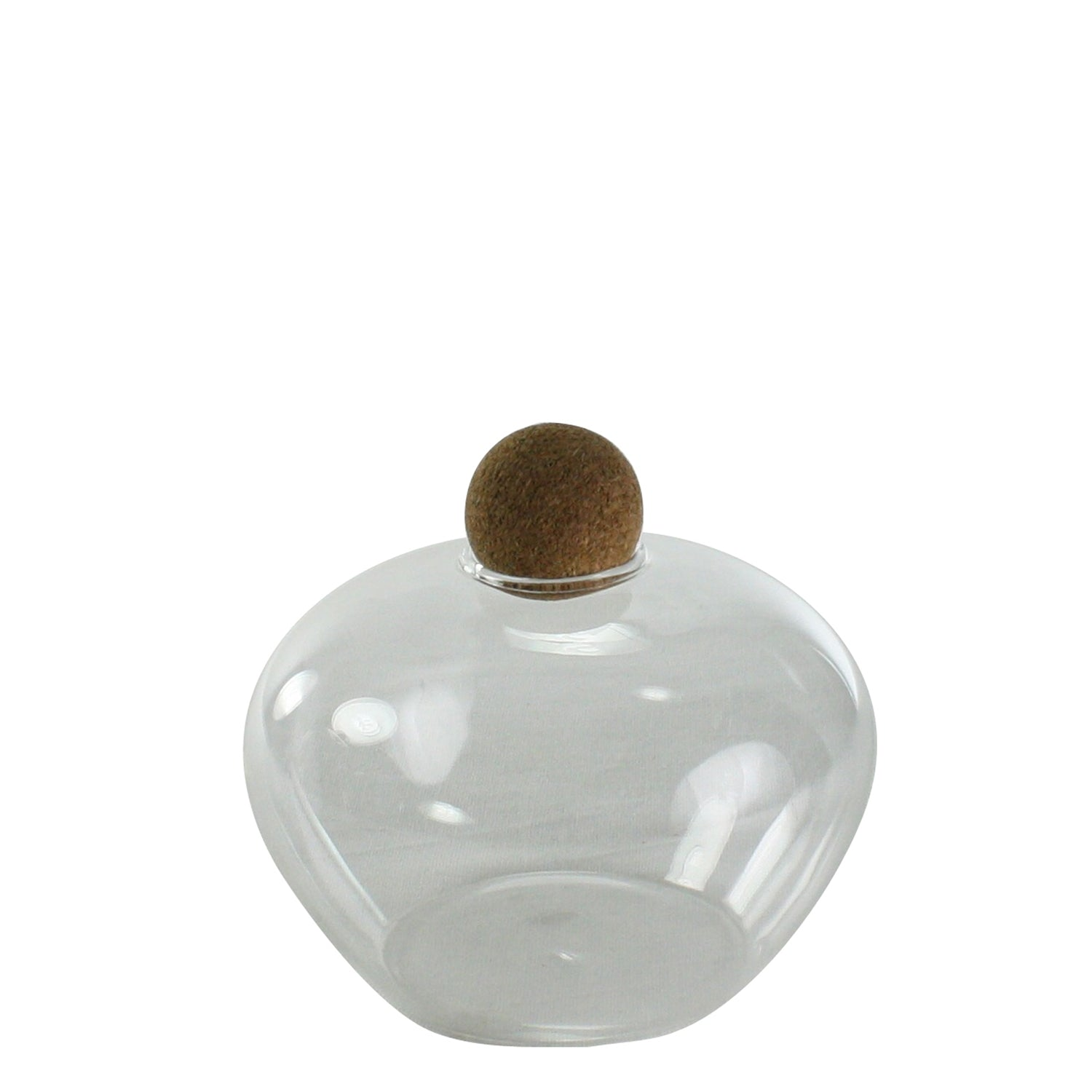 Glass Jar with Cork Ball Stopper