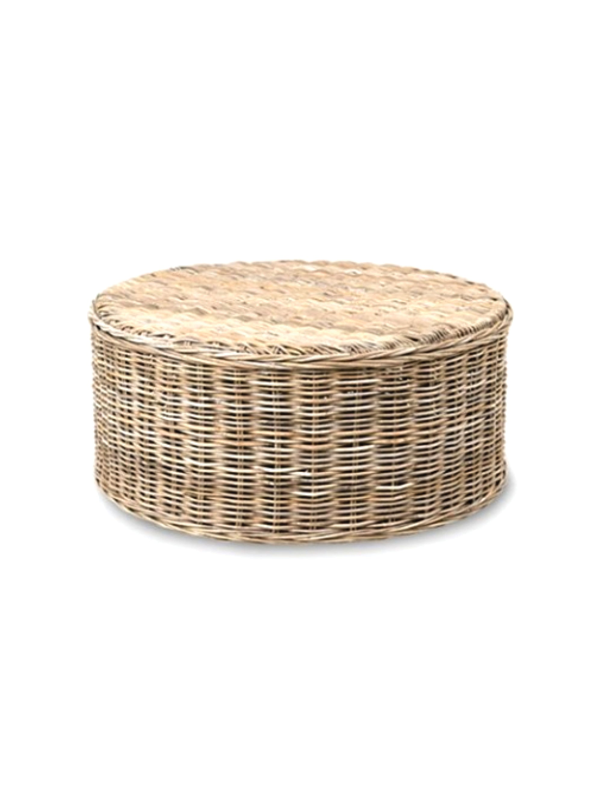 Seascape Driftwood Rattan Round Coffee Table