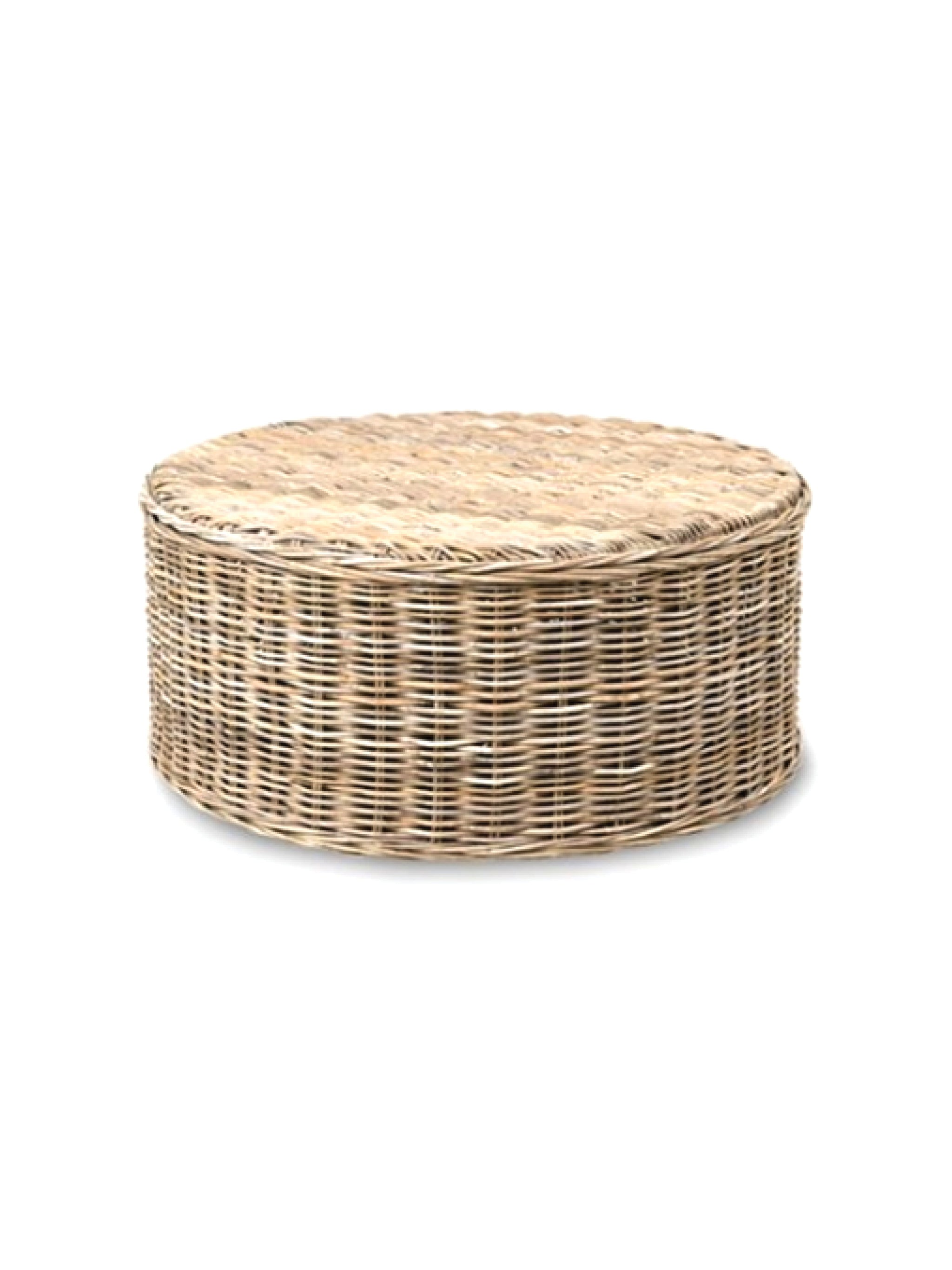 - Seascape Driftwood Rattan Round Coffee Table - Gray Apple Market