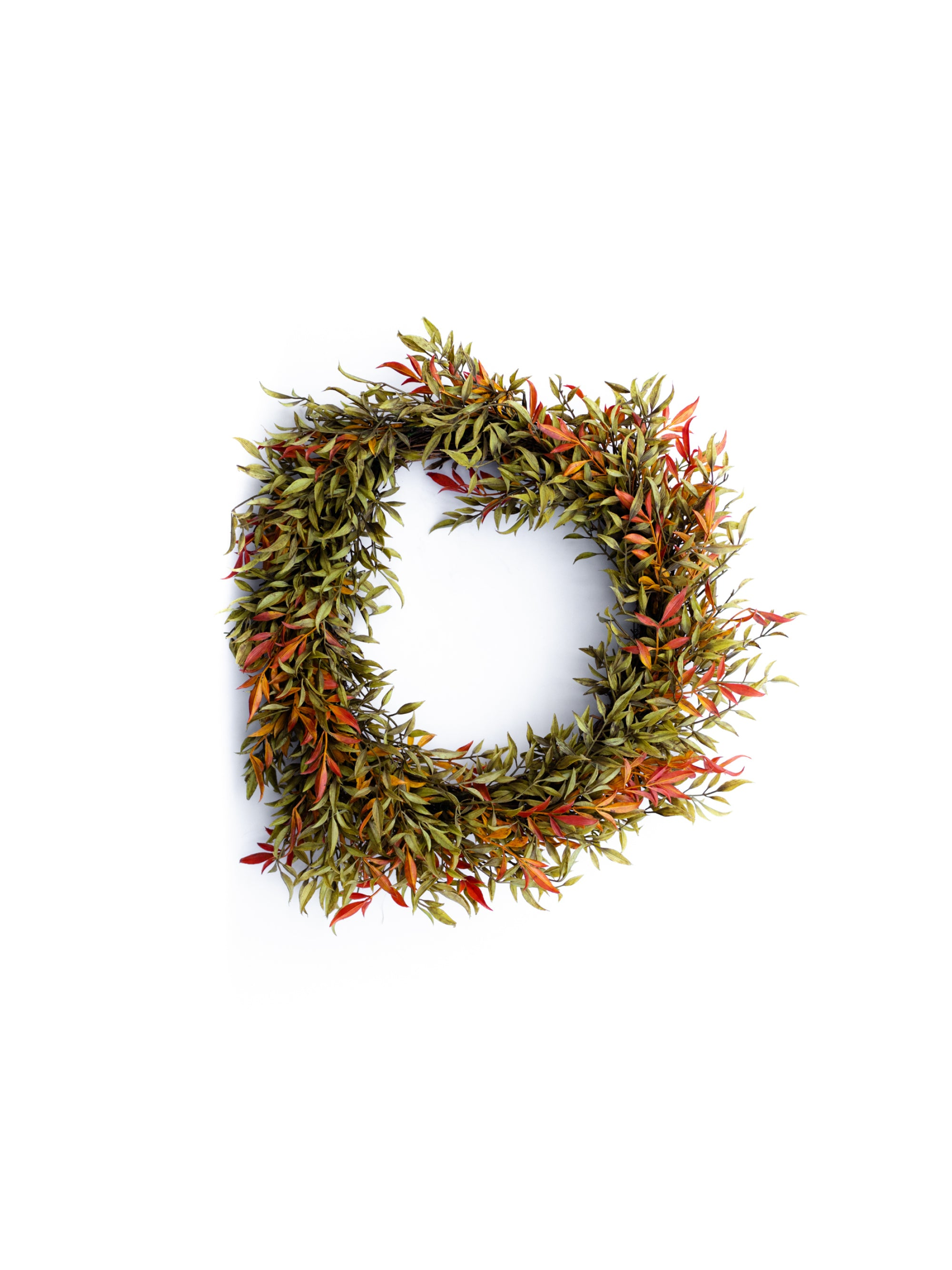 Green and Orange Ash Wreath