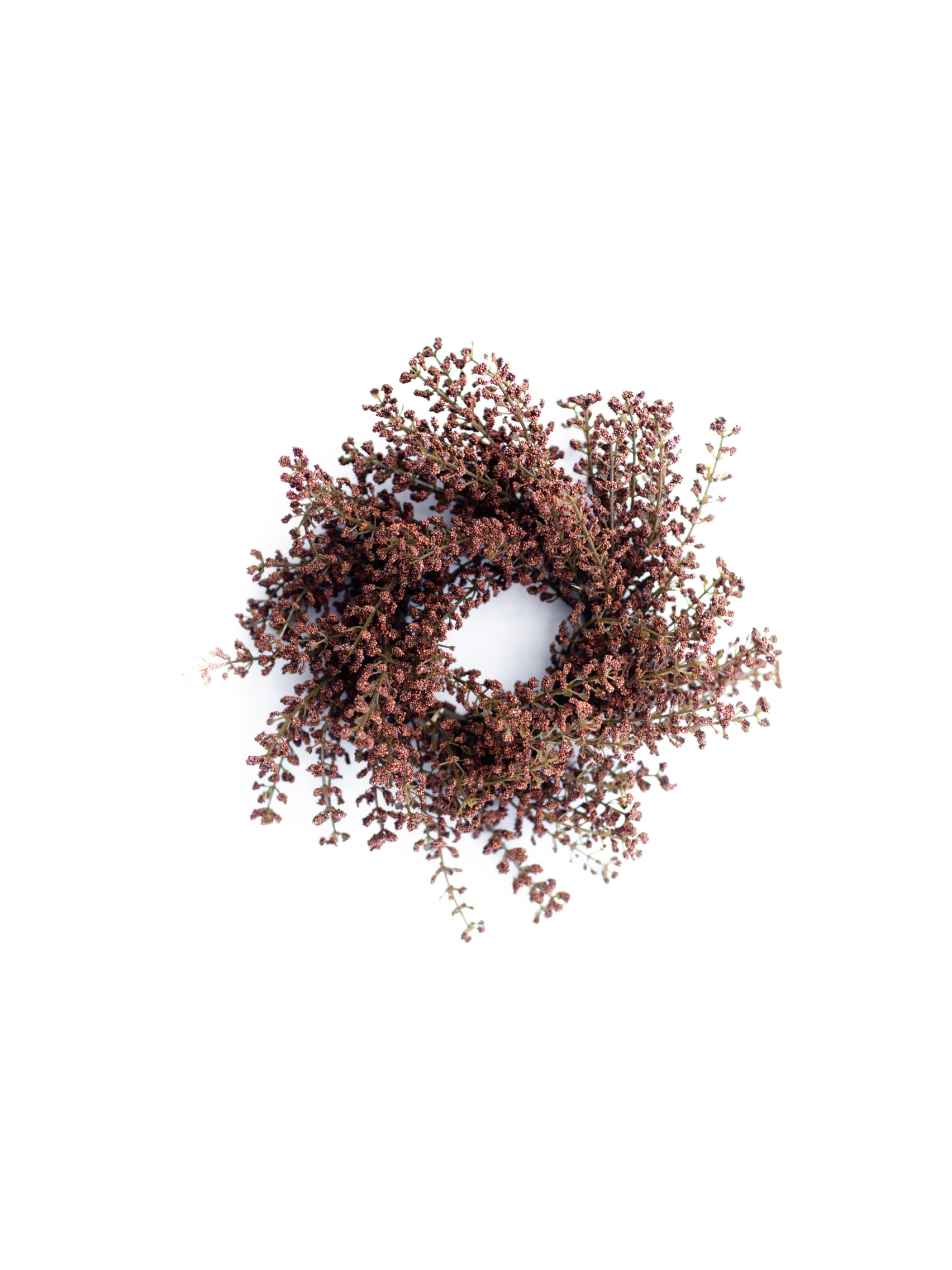 Brown Astilbe Candle Ring