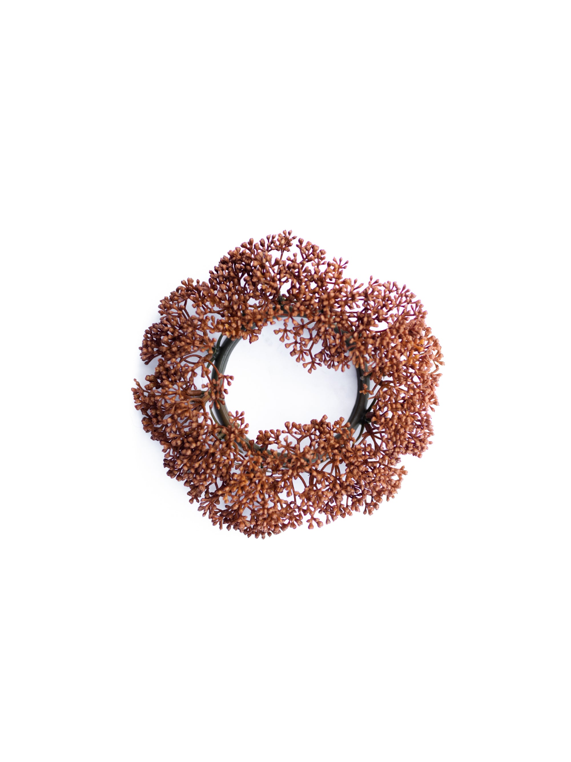 Brown Seeded Candle Ring