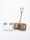 Rattan S&P Caddy with S&P Shakers