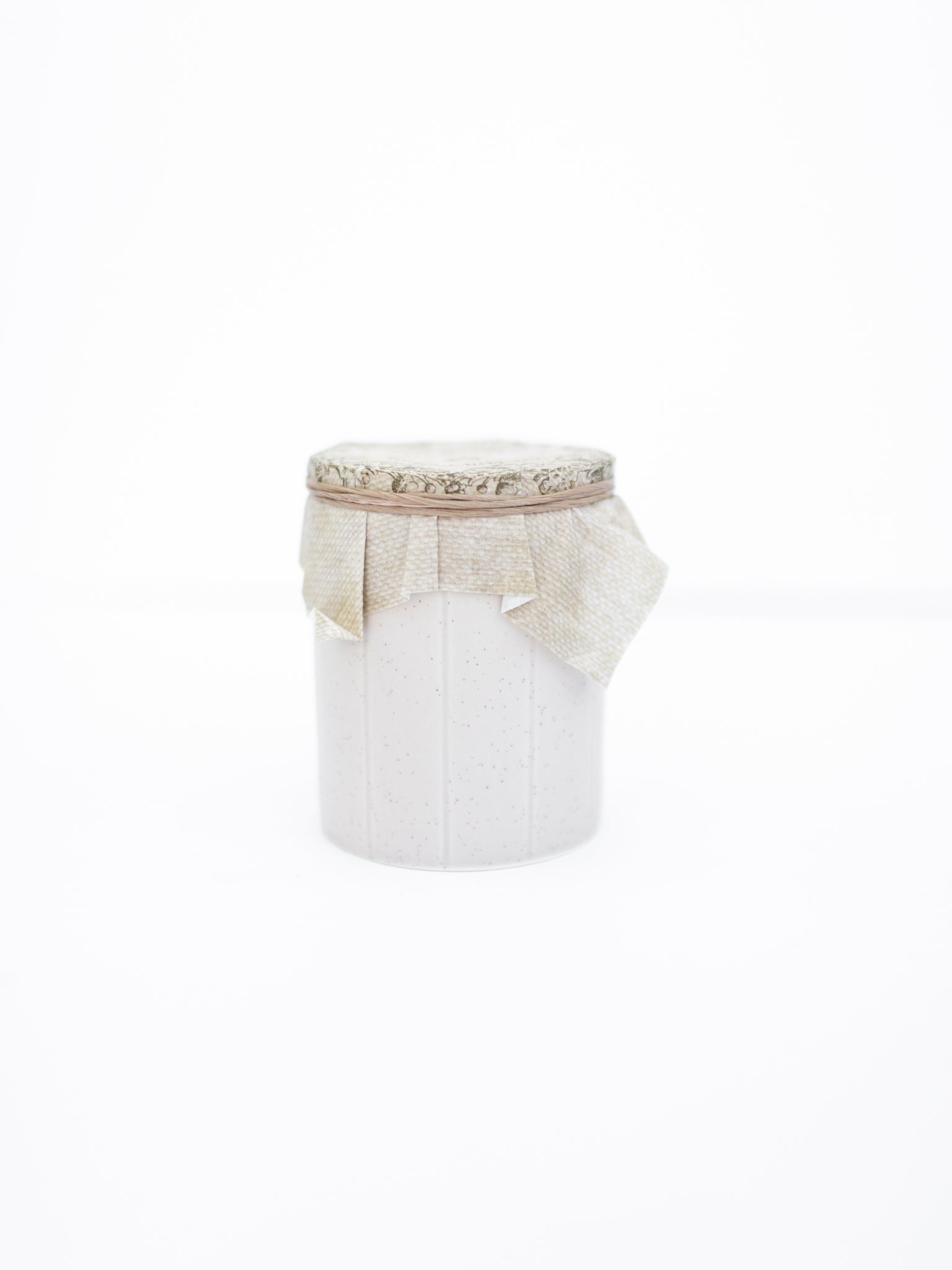 Natural Ceramic Holiday Candle
