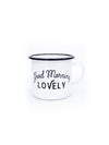 Enameled Coffee Mug with Saying