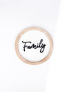 Round 'Family' Tin Sign
