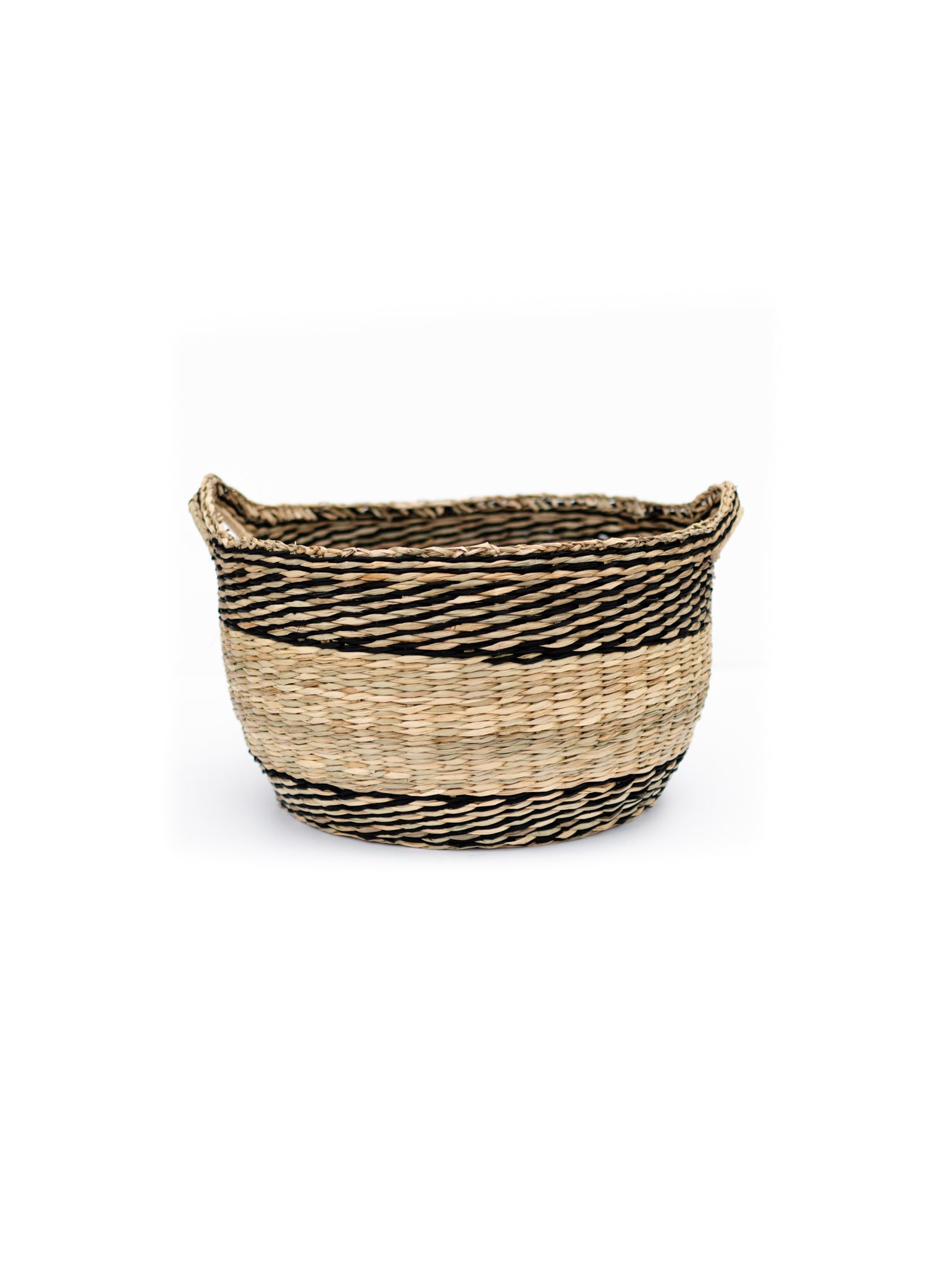 Seagrass Basket, Two Toned