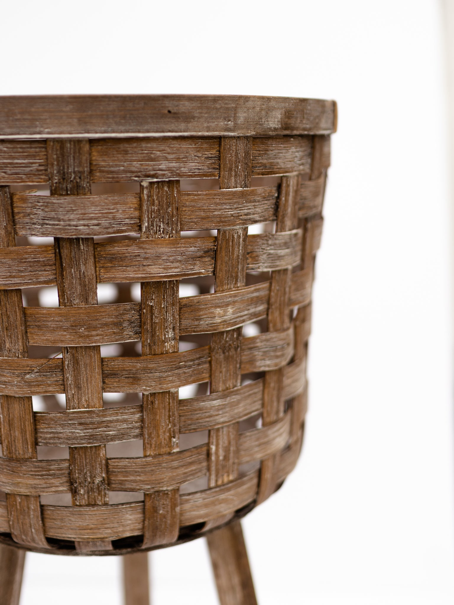 Footed Bamboo Basket