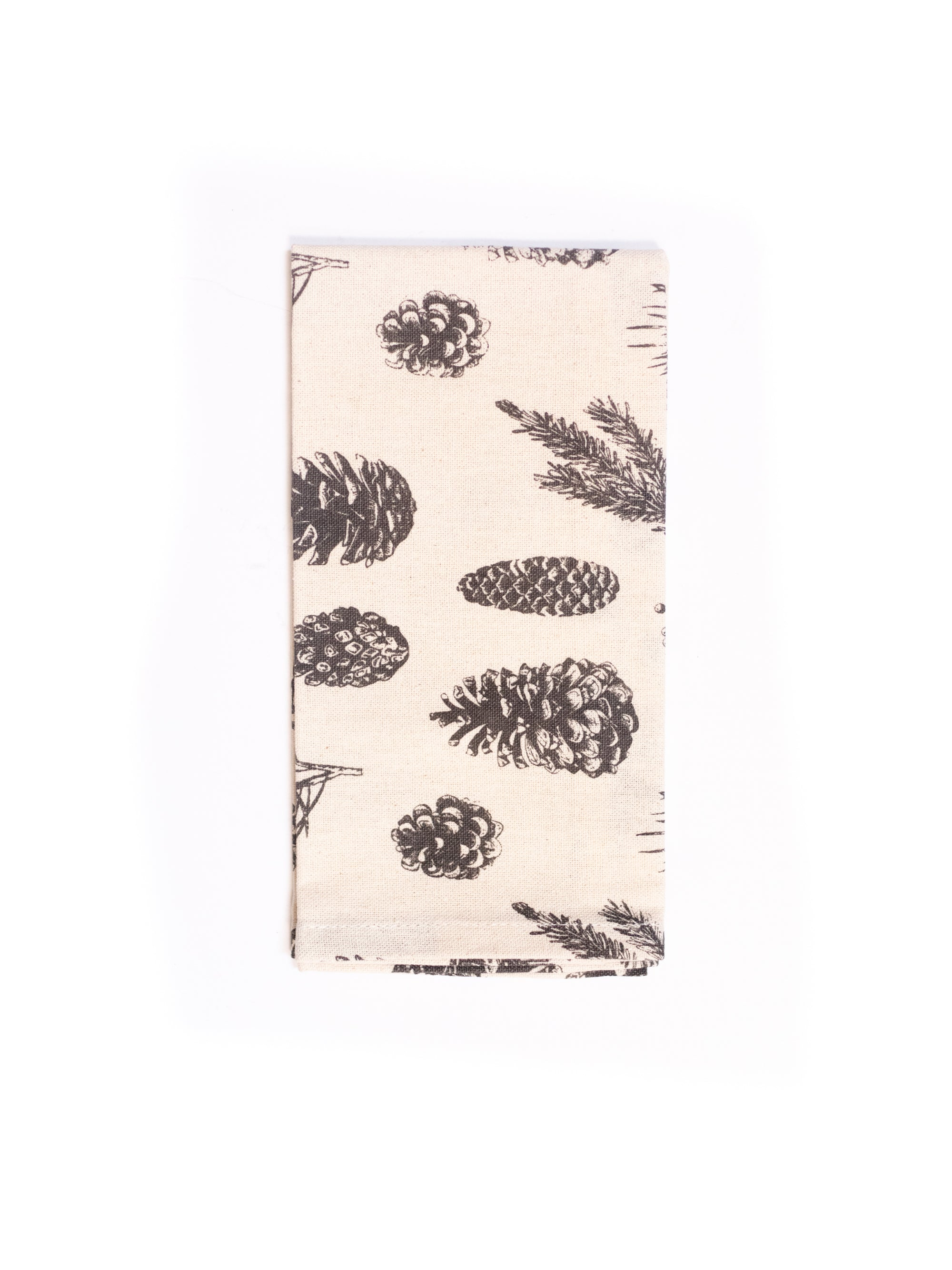Cotton Napkins w/ Pinecone Print