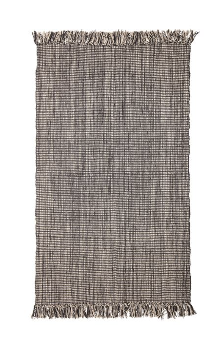 Woven Cotton Blend Rug