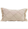 French Knotted Cotton & Linen Lumbar Pillow