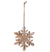 Mango Wood Snowflake Ornament
