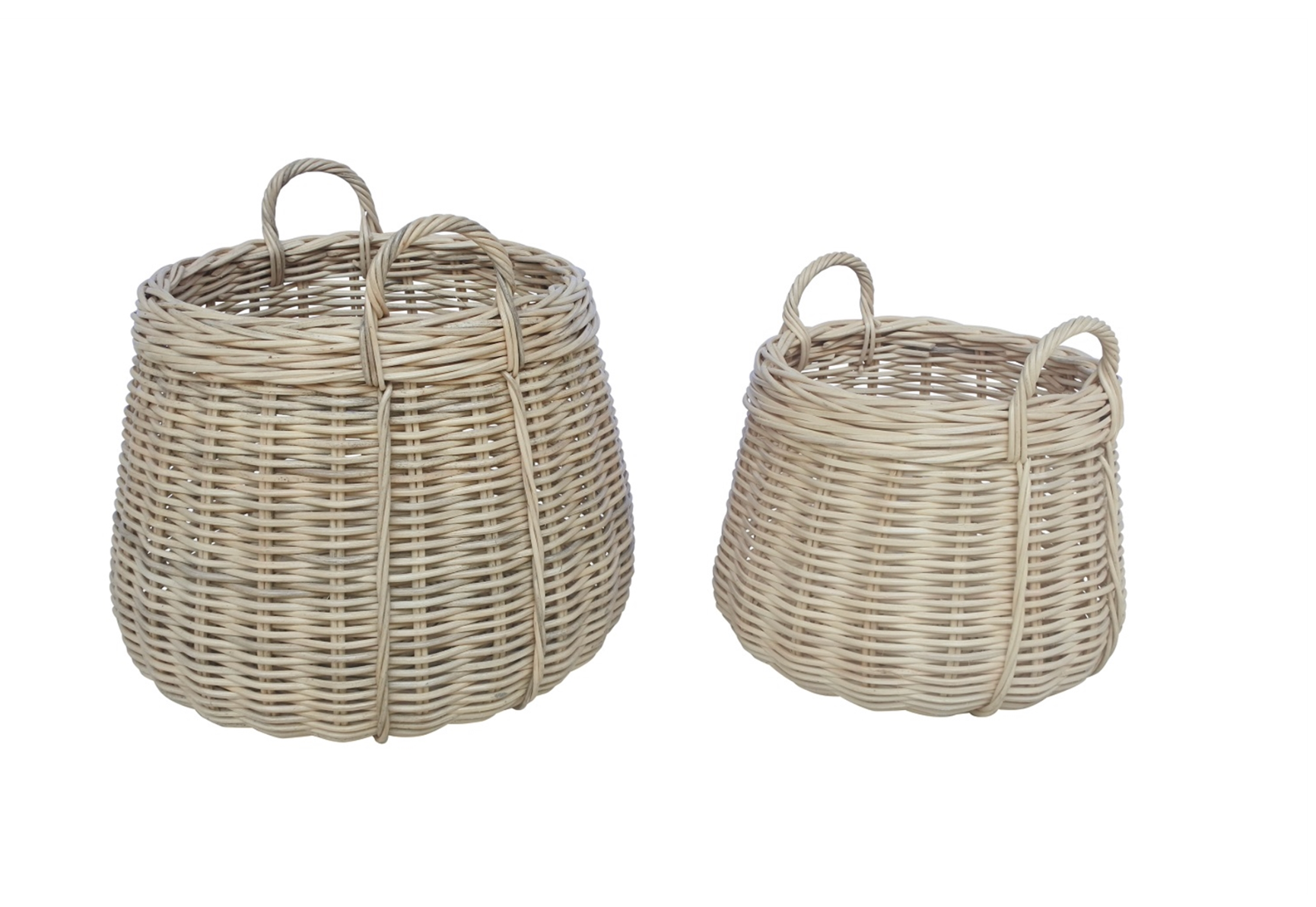 Antique Honey Rattan Basket