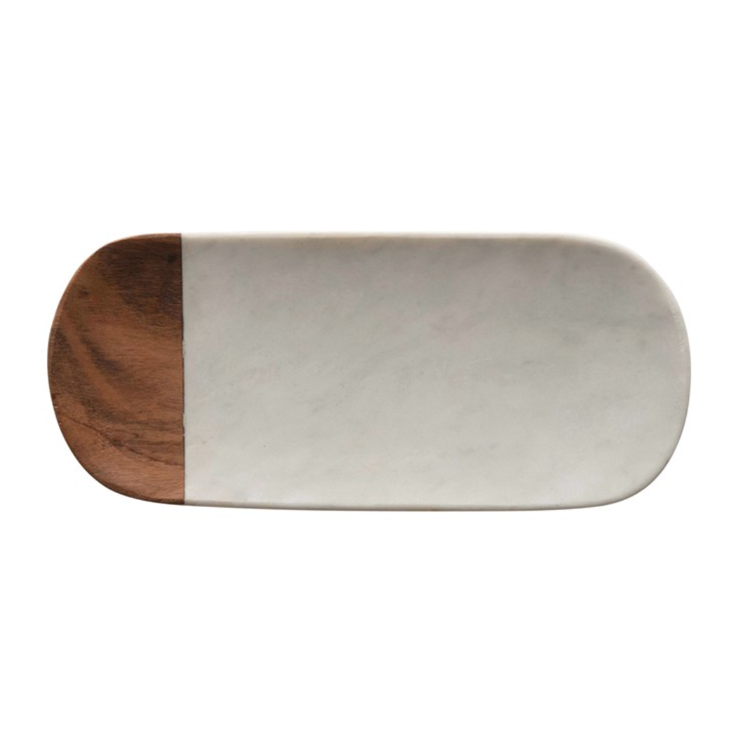 Marble and Wood Tray