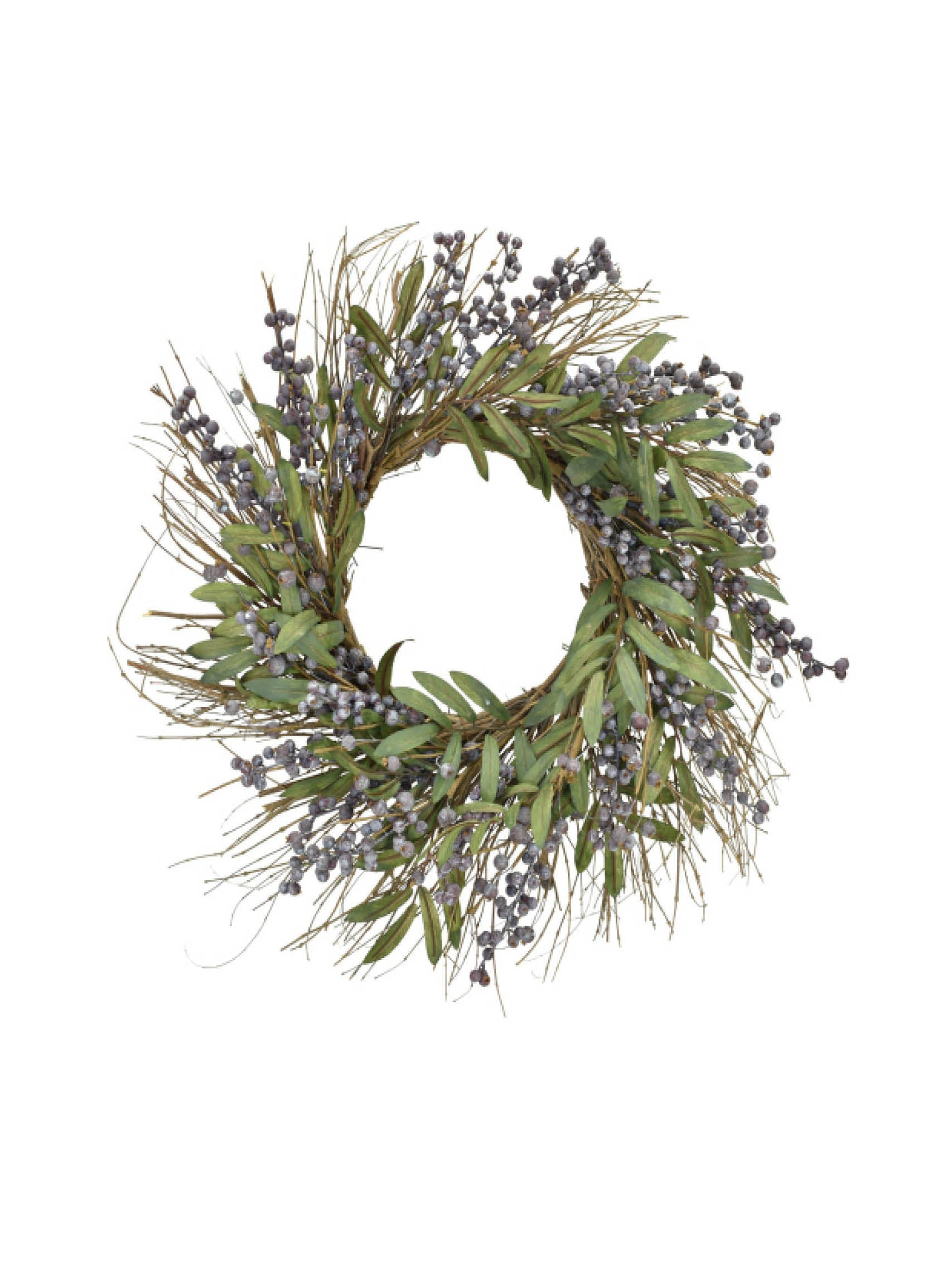 "24""Blueberry Wreath"