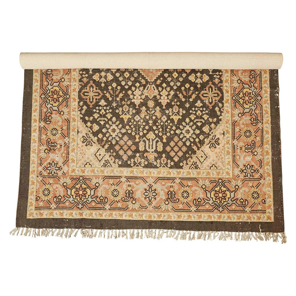 "8'x5"" Cotton Printed Rug"