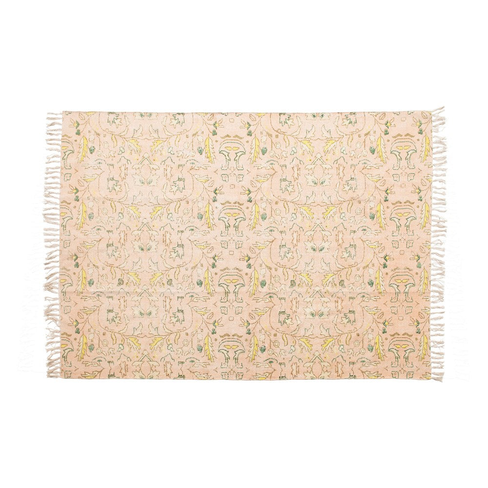 "4'x6"" Woven Cotton Distressed Rug"