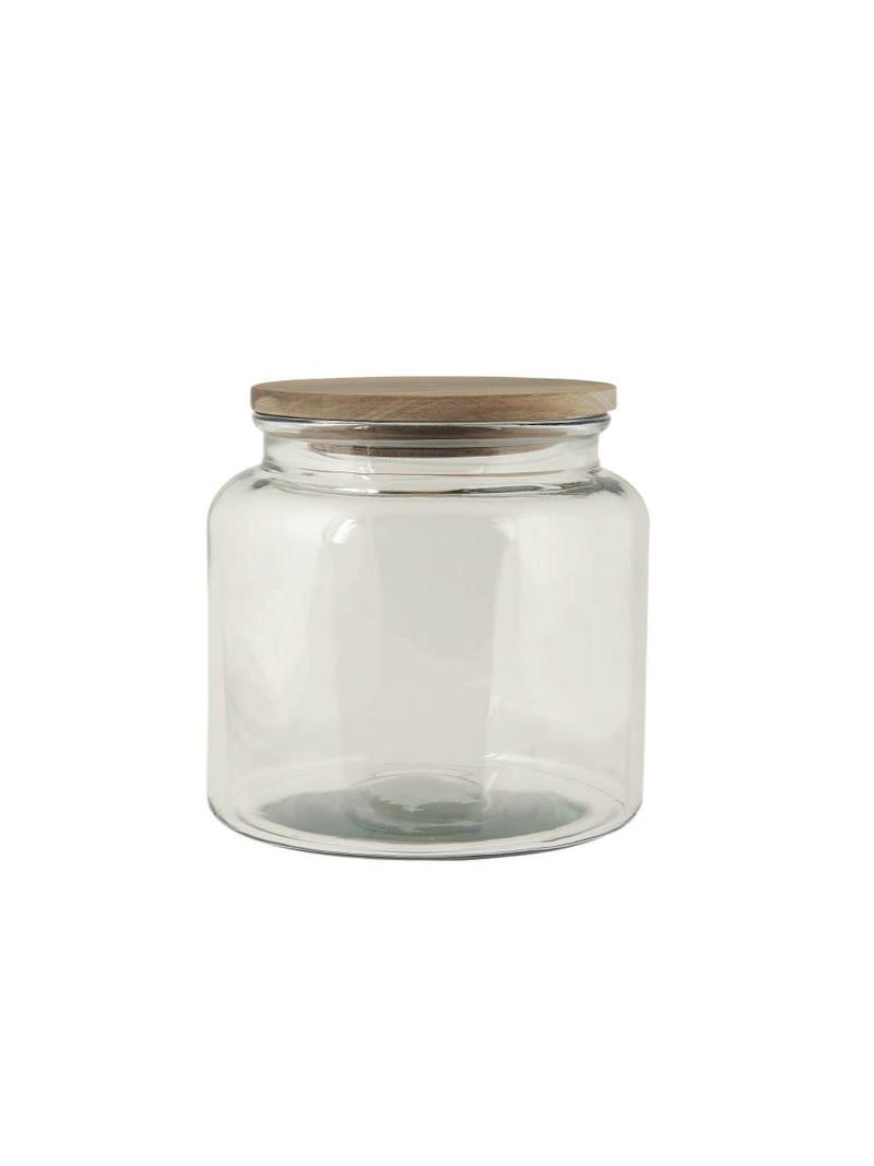 Glass Jar with Wooden Lid