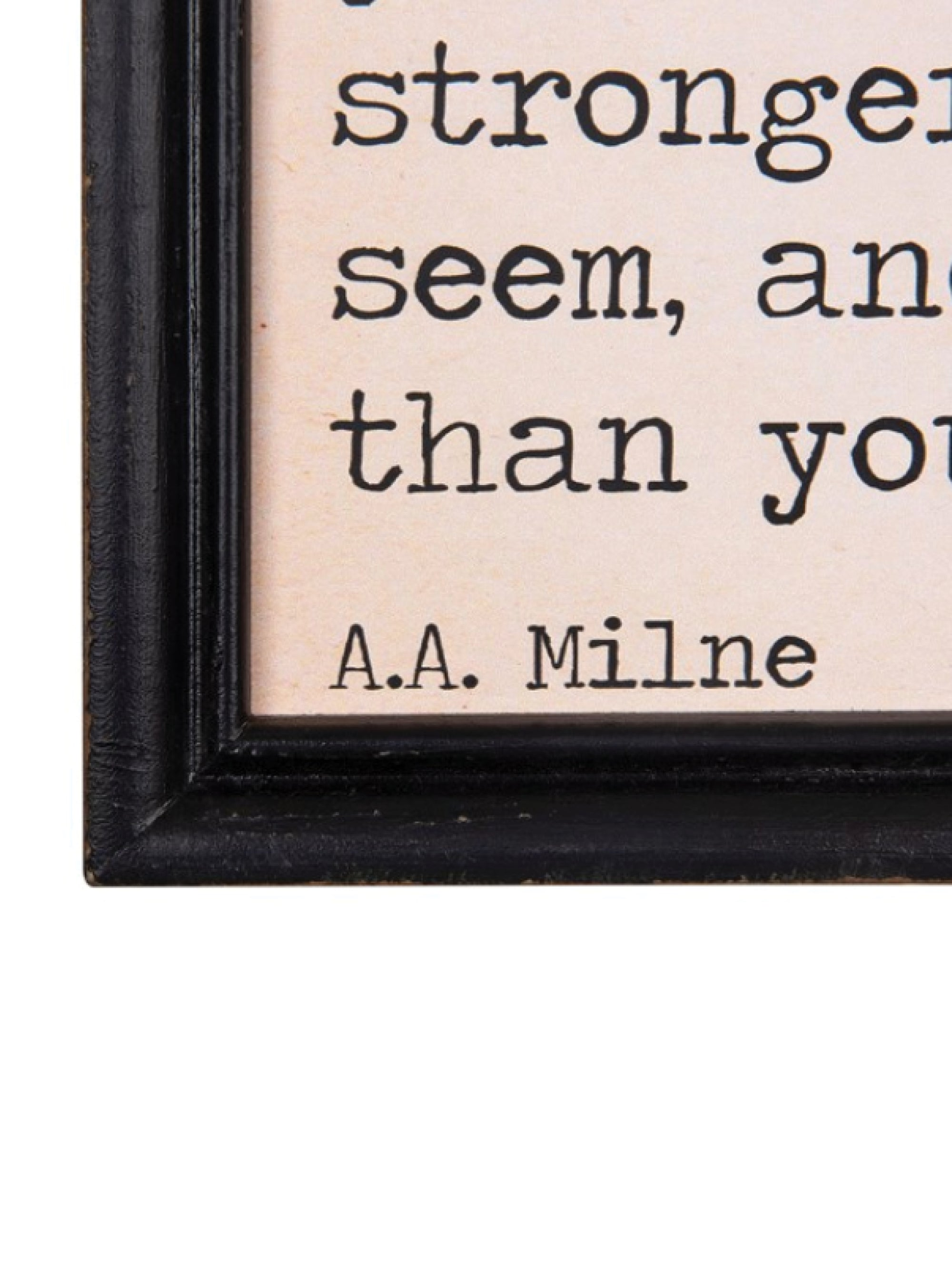Mini Framed Sign with Saying