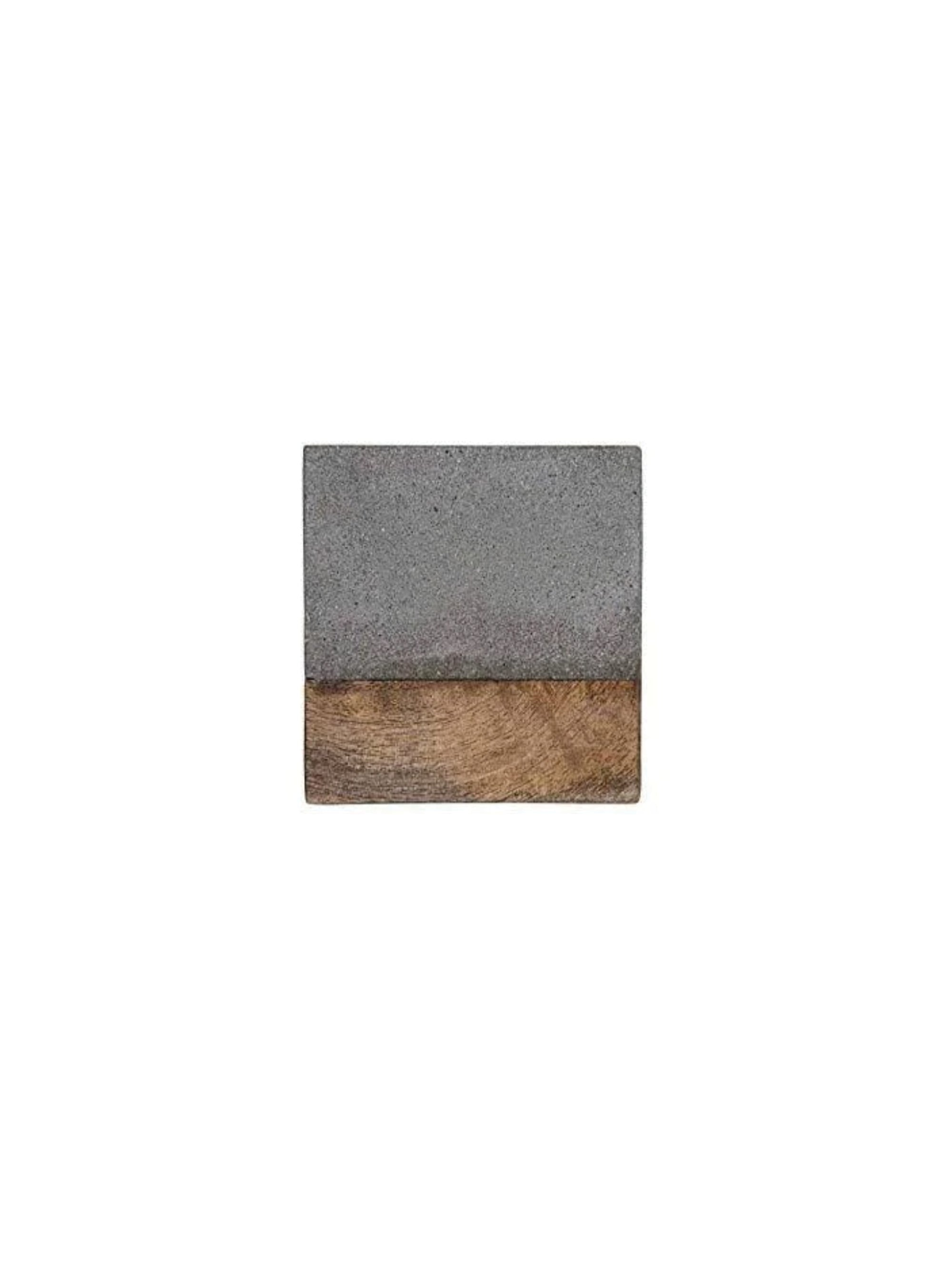 Cement and Wood Square Coaster