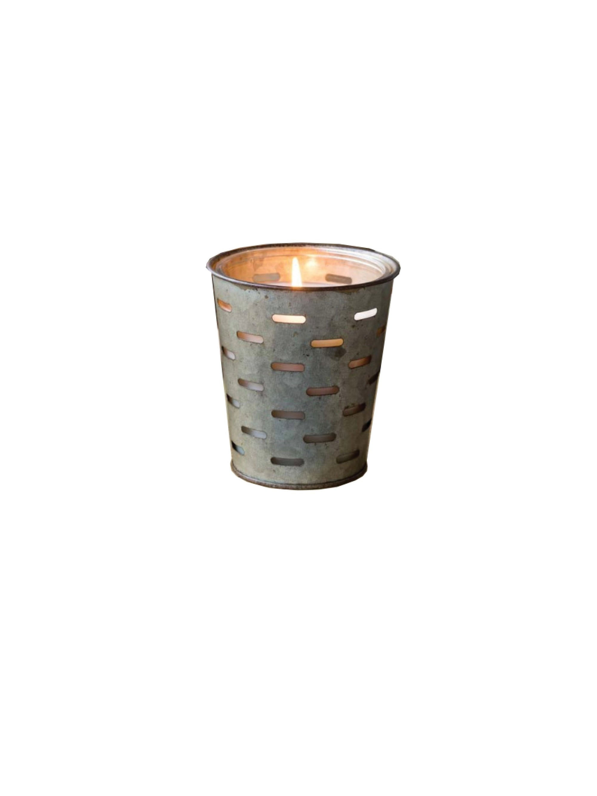 Fall Olive Bucket Candle
