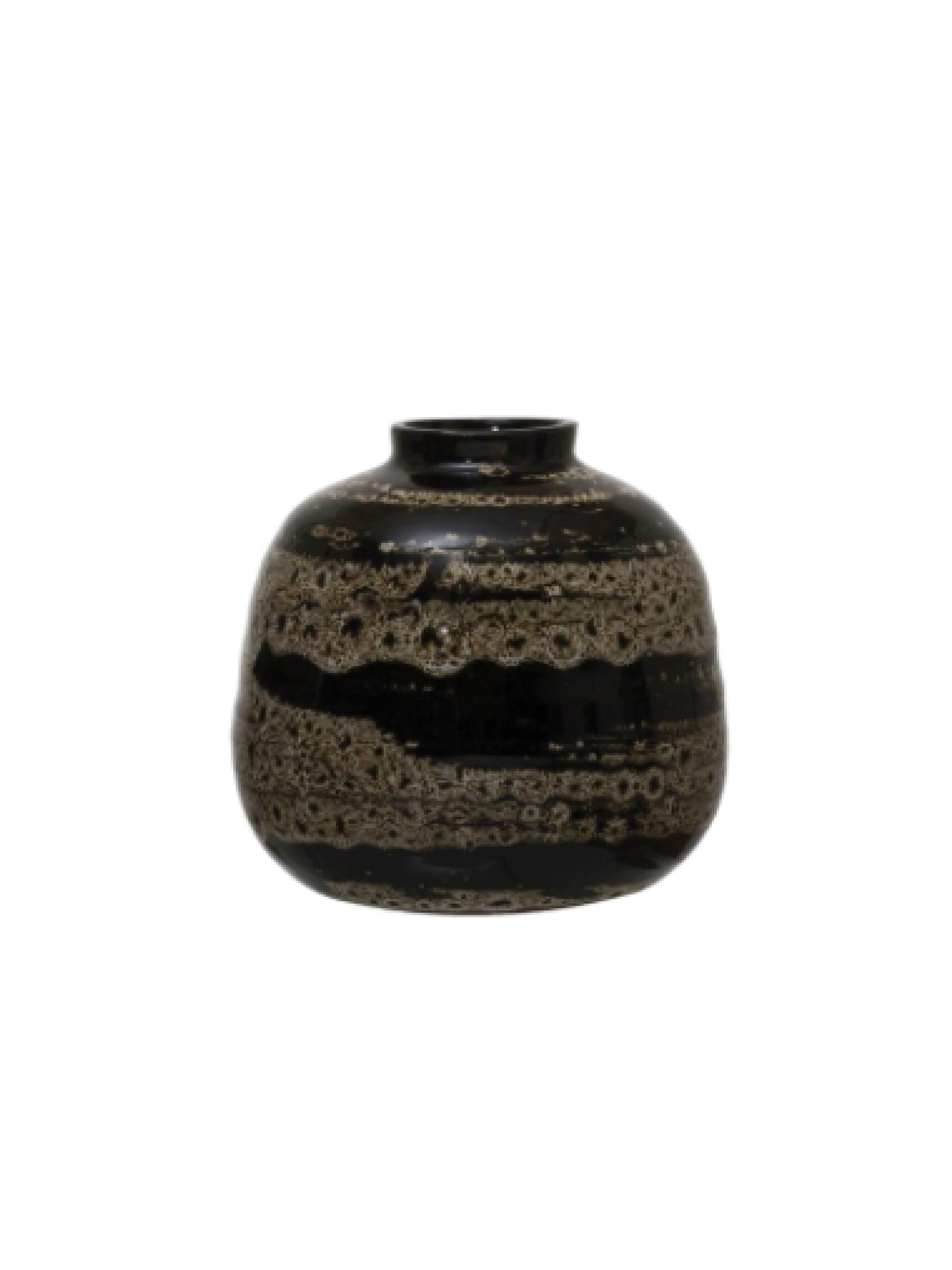 Brown Glazed Terra Cotta Vase