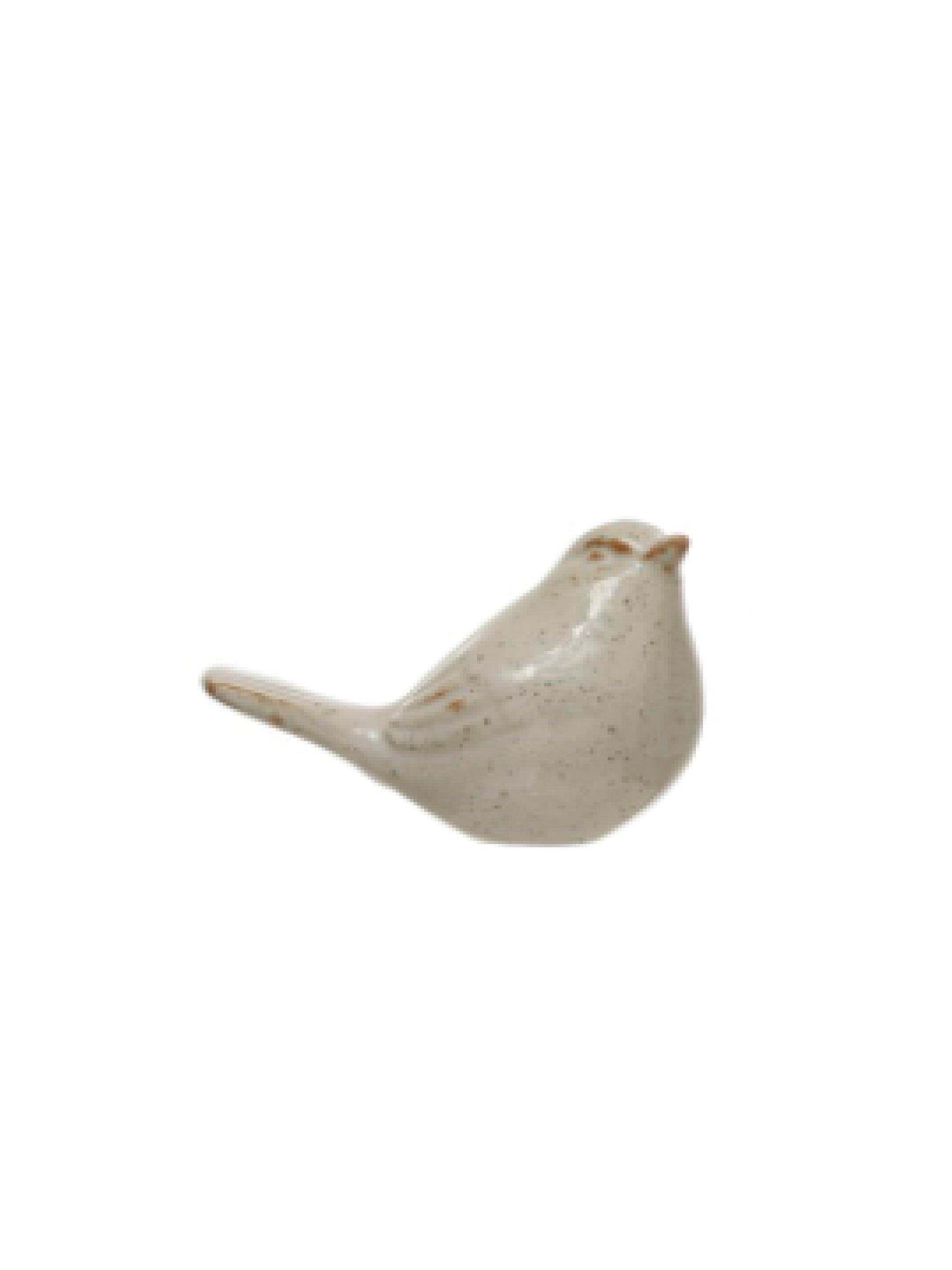 White Stoneware Bird