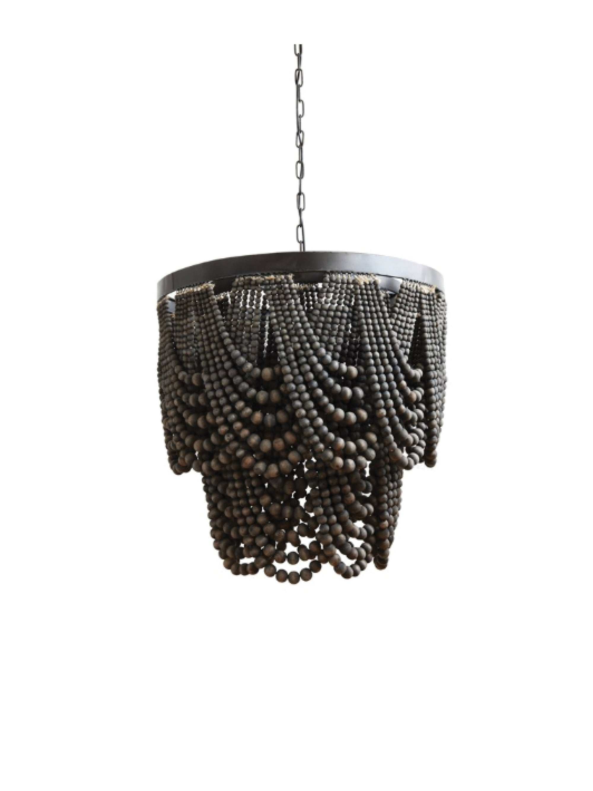 Wooden Bead Chandelier