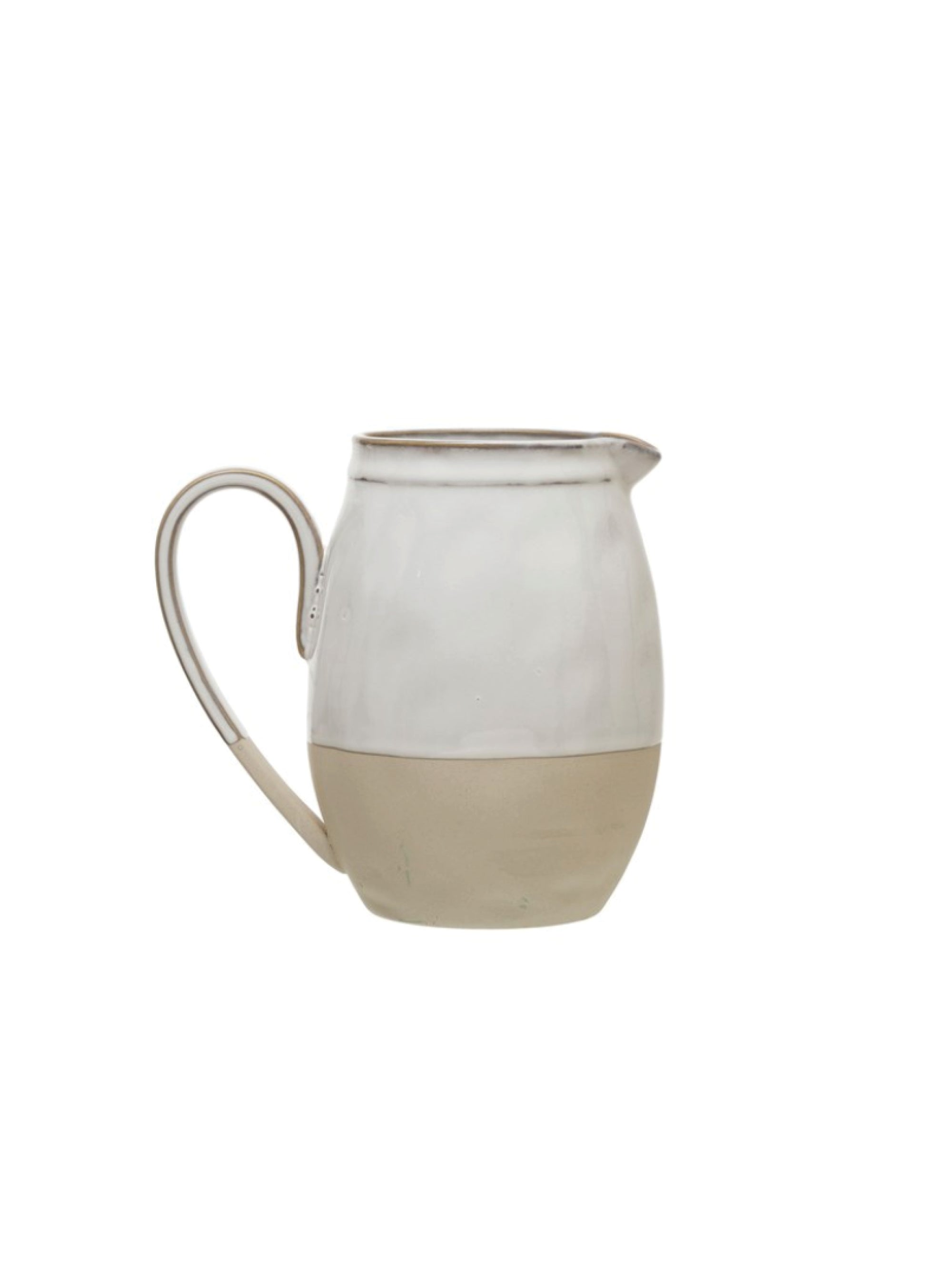 Stoneware Pitcher w/ Reactive Glaze