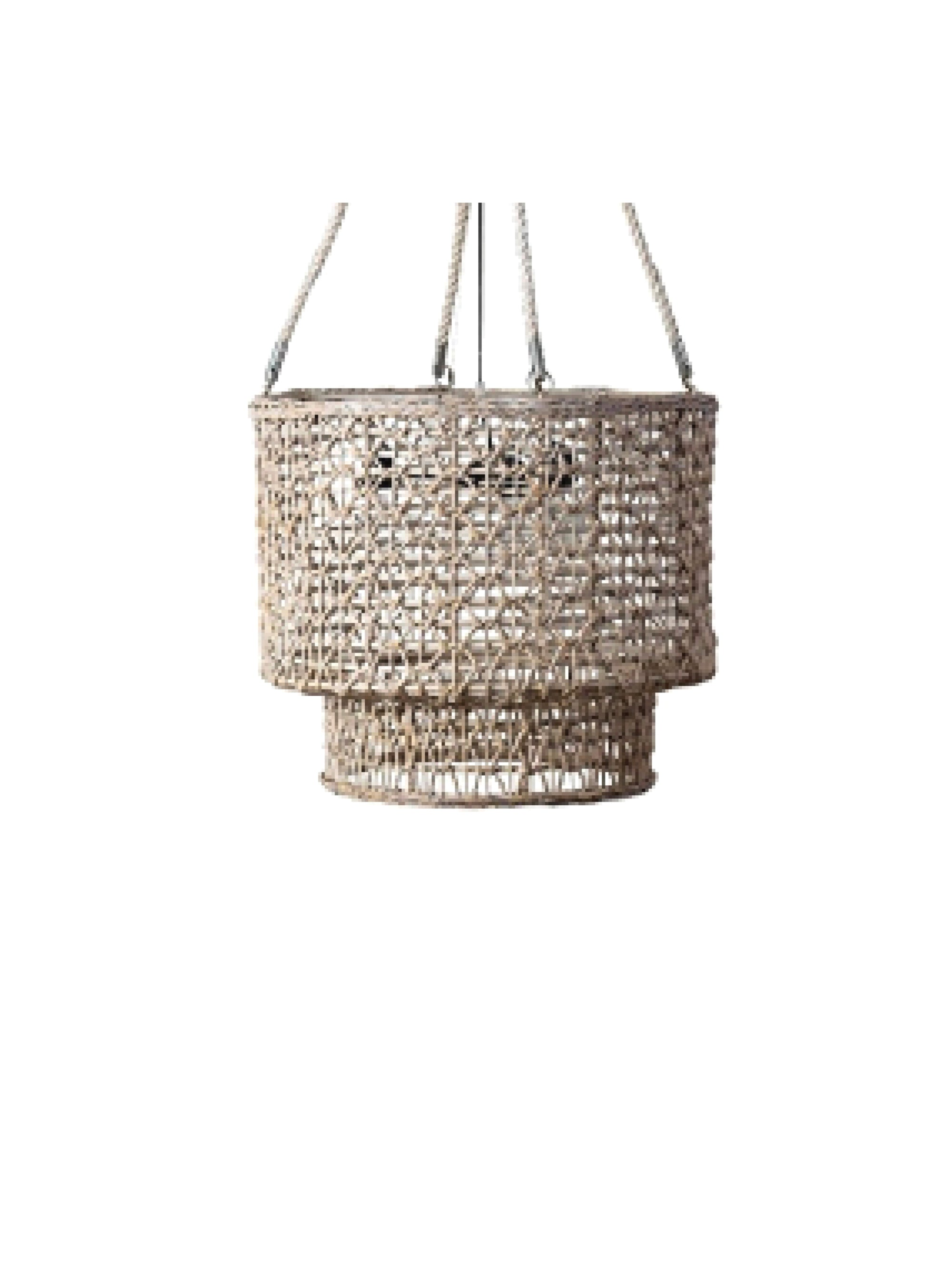 Double Barrel Natural Rope Chandelier