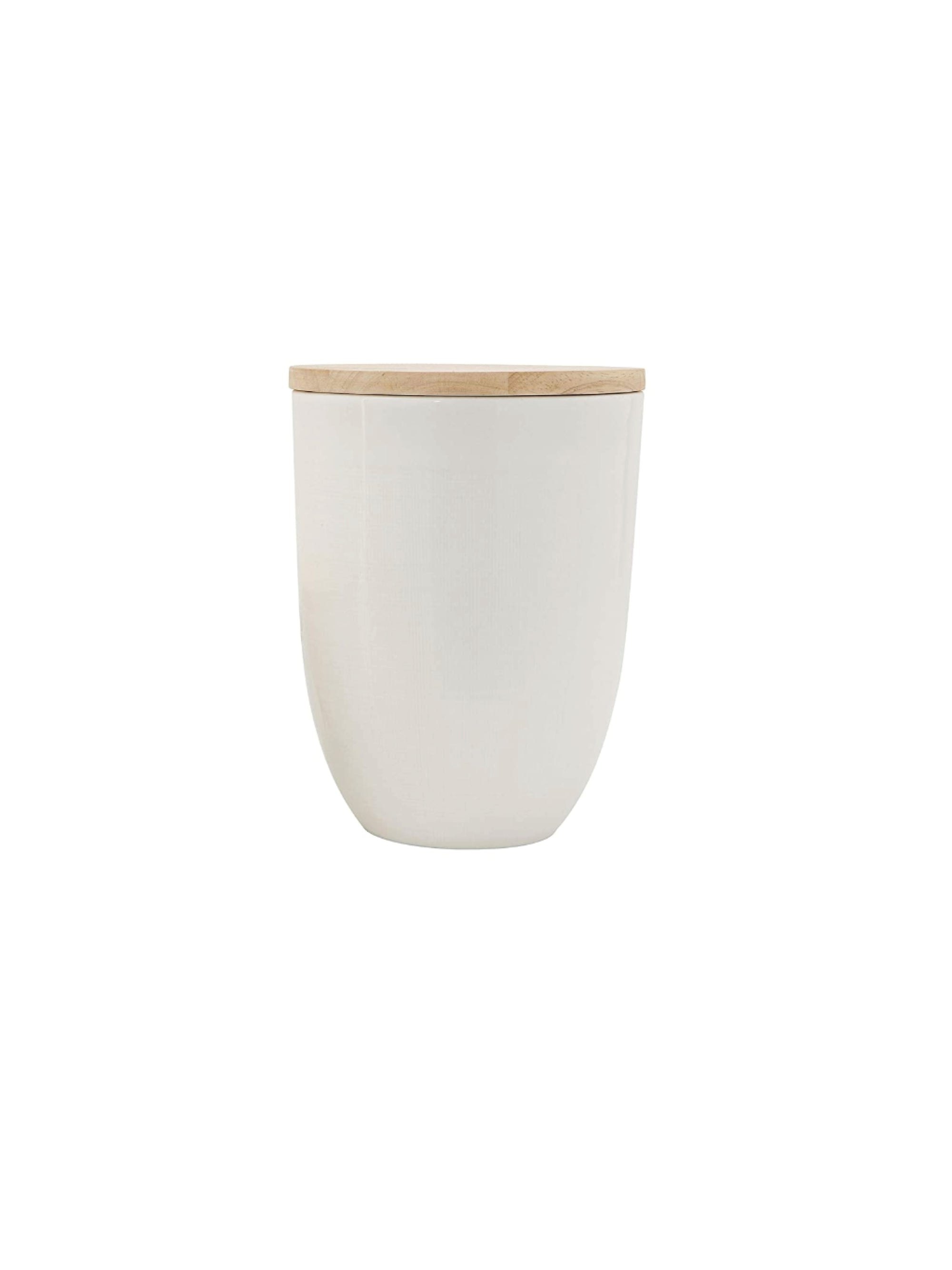 Ceramic White Canister
