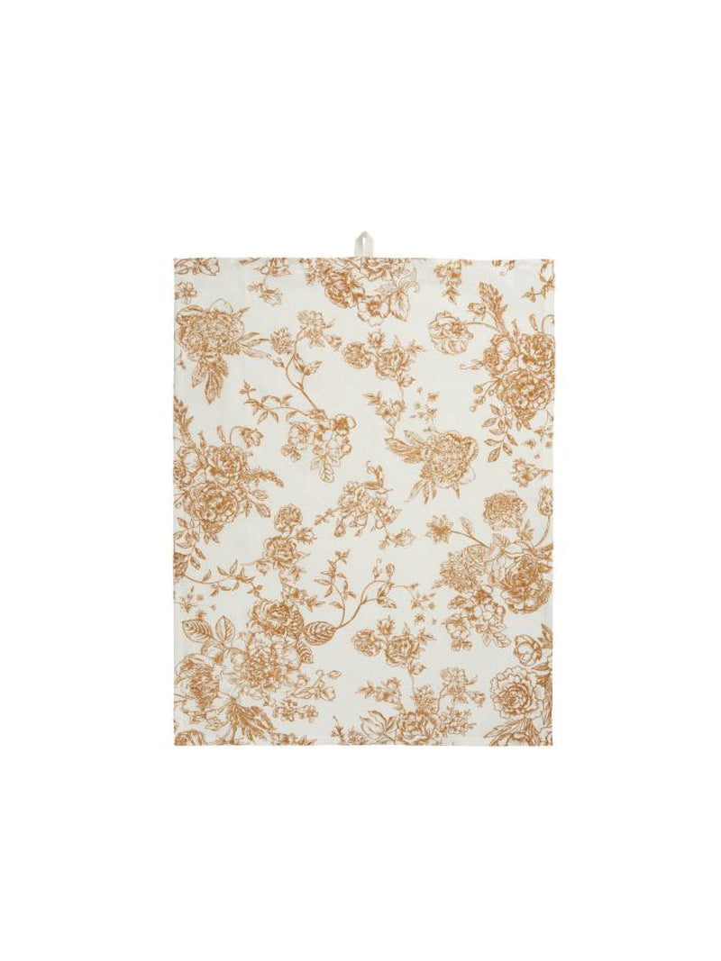 Tea Towel with Floral Pattern