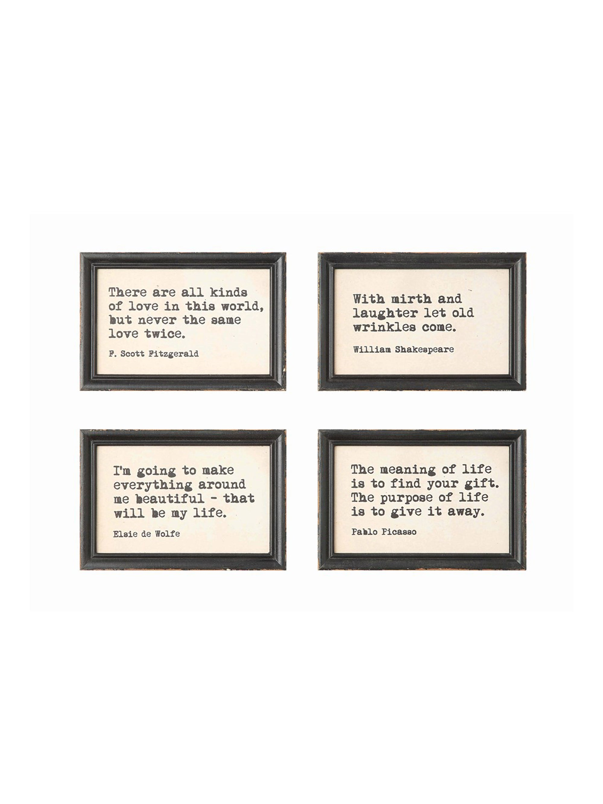 Wood Framed Wall Sayings