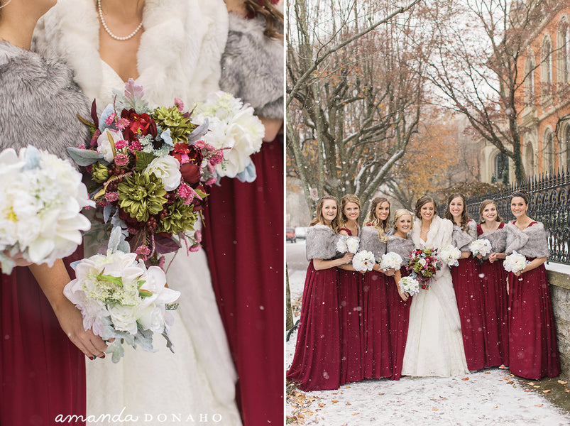Why silk wedding flowers for winter wedding?